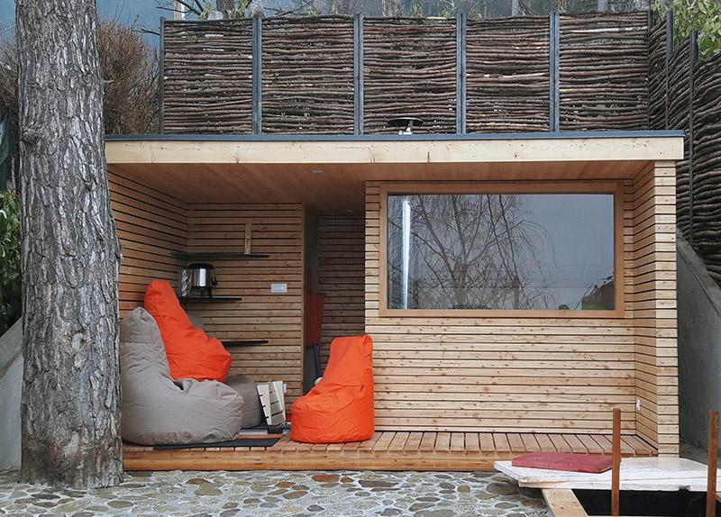 sauna cubo. Black Bedroom Furniture Sets. Home Design Ideas