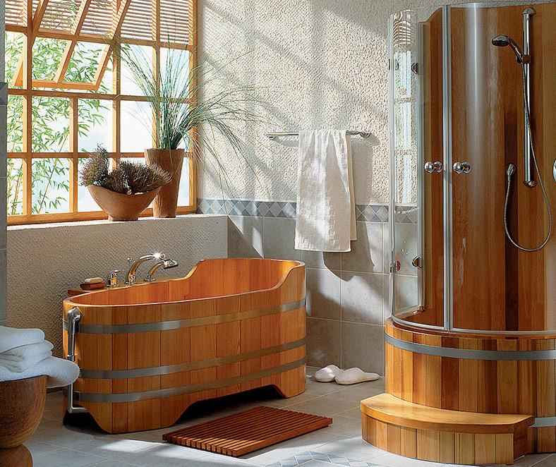 Interesting vasca da bagno in legno with vasca da bagno doccia - Vasca bagno legno ...