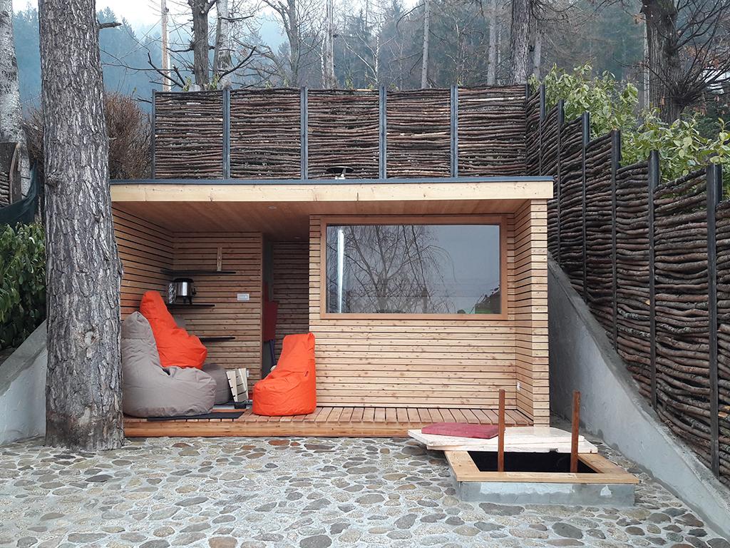 Bagno Esterno In Giardino saune botte e saune per esterno | sauna viva, alto adige
