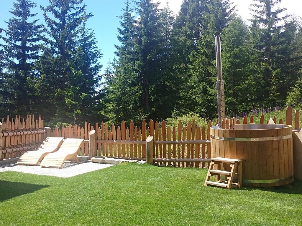 Sauna viva alto adige tinozza da bagno hot tub per l 39 esterno - Tinozza da bagno ...